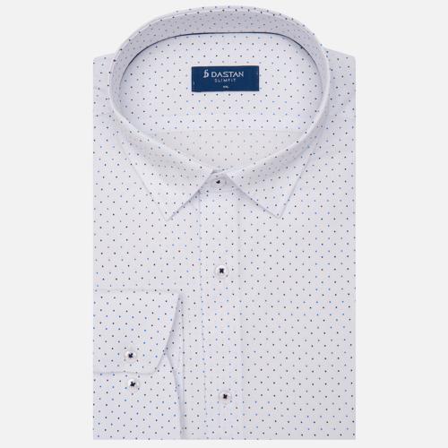 Koszula Slim Fit Dots Blue