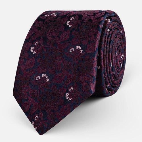 Krawat Burgundy Flower