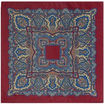Poszetka Oriental Pattern Red Wine