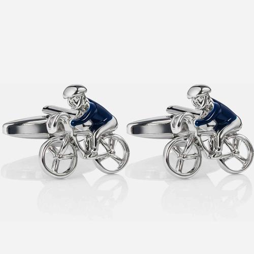 Spinki do mankietów Blue Bicycles