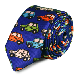 Krawat Tie or Die FIAT 126p Ultramaryna